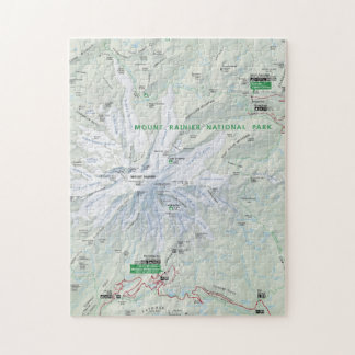 Mount Rainier map puzzle