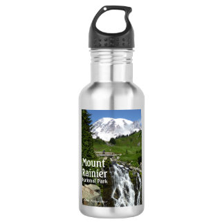 Mount Rainier N.P. with text 532 Ml Water Bottle