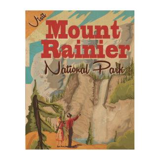 Mount Rainier nation park Vintage Travel Poster