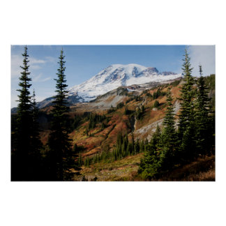 Mount Rainier National Park, autumn Poster