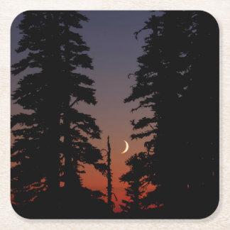 Mount Rainier National Park, Crescent Moon Square Paper Coaster
