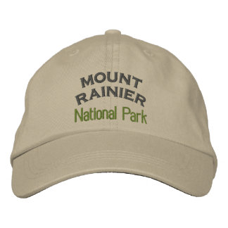 Mount Rainier National Park Embroidered Hat