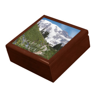 Mount Rainier National Park Photo Large Square Gift Box