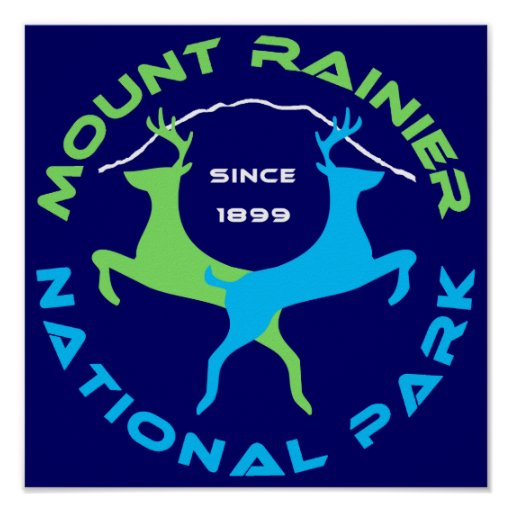 Mount Rainier National Park Print