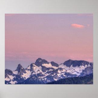 Mount Rainier National Park, Sarvent Glaciers Poster