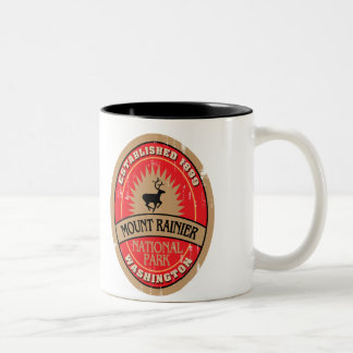 Mount Rainier National Park Two-Tone Coffee Mug