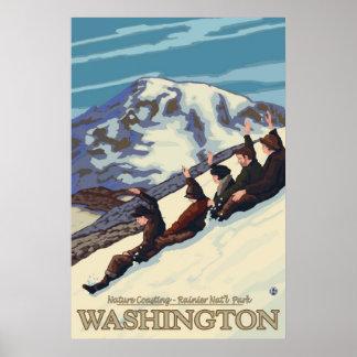 Mount Rainier - Nature Coasting - Travel Poster