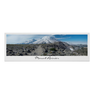 Mount Rainier Panorama Poster