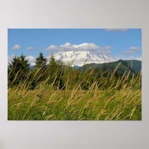 Mount Rainier Print on Heavy Poster Paper