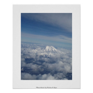"""Mount Rainier"" Professional Photography Poster"