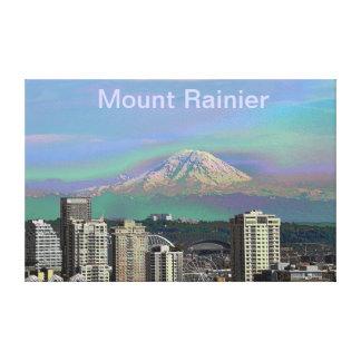Mount Rainier Seattle Wa Gallery Wrapped Canvas