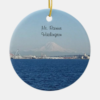 Mount Rainier Seattle Washington Ornament