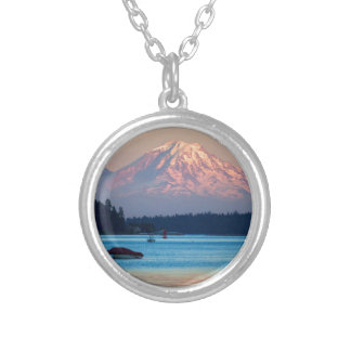 Mount Rainier Silver Plated Necklace