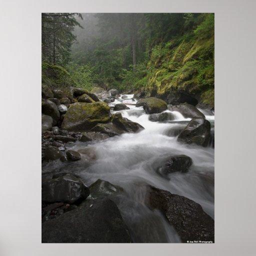 Mount Rainier Stream Posters