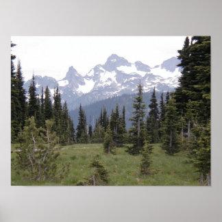 Mount Rainier Sunrise Poster