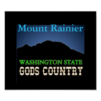 Mount Rainier WA State POSTER