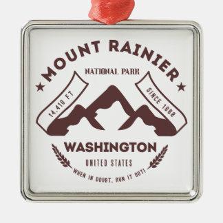 Mount Rainier Washington Metal Ornament