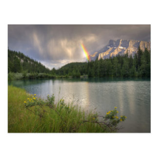 Mount Rundle Rainbow, Cascade Ponds Postcard