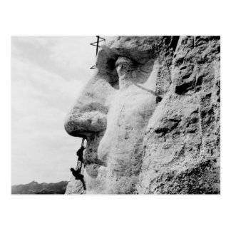 Mount Rushmore construction Postcard