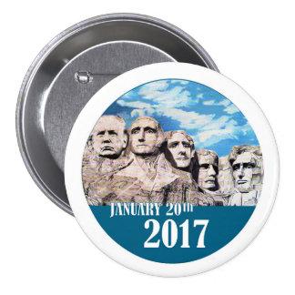 Mount Rushmore, January 20, 2017 7.5 Cm Round Badge