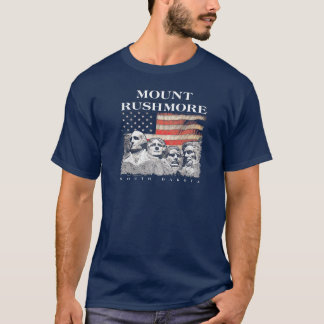 Mount Rushmore National Memorial Park Flag T-Shirt