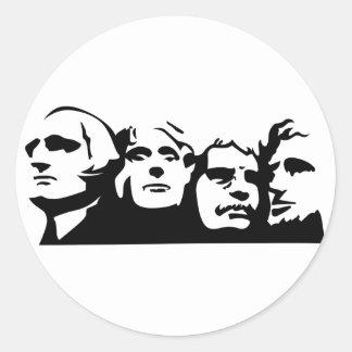 Mount Rushmore Outline Classic Round Sticker