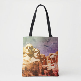 Mount Rushmore Presidential Monument 1974 Tote Bag