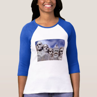 Mount Rushmore Sock Monkey T-Shirt