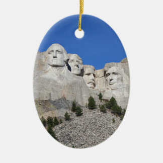 Mount Rushmore South Dakota Presidents USA America Ceramic Ornament