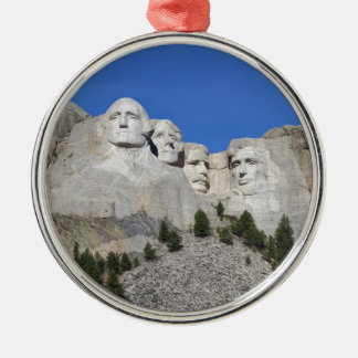 Mount Rushmore South Dakota Presidents USA America Silver-Colored Round Decoration