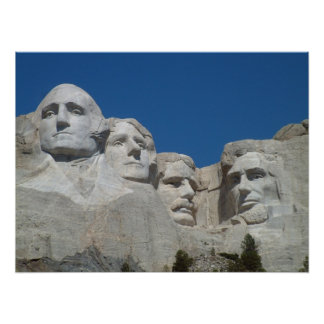 Mount Rushmore, South Dakota, US Presidents Poster