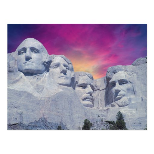 Mount Rushmore, South Dakota, USA Presidents Postcard