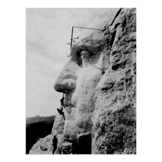 Mount Rushmore under Construction Poster