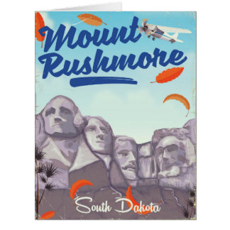 Mount Rushmore Vintage Style travel poster. Card