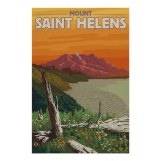 Mount Saint Helens - Spirit Lake - Travel Poster