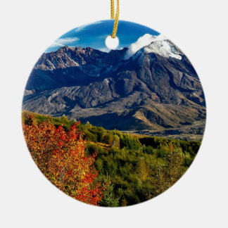 Mount Saint Helens, Washington Ceramic Ornament