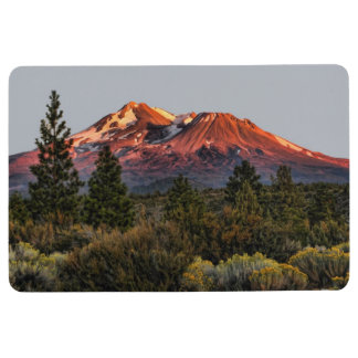 MOUNT SHASTA AT SUNSET FLOOR MAT