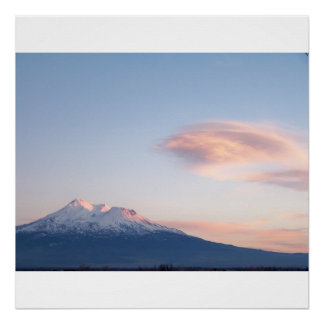 Mount Shasta, CA at Sunset Poster