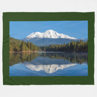 MOUNT SHASTA FROM LAKE SISKIYOU FLEECE BLANKET