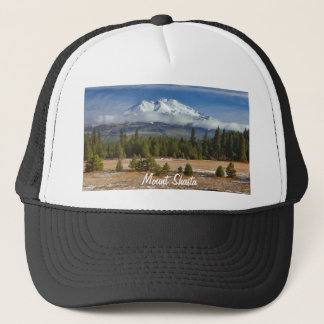 MOUNT SHASTA IN SNOW TRUCKER HAT