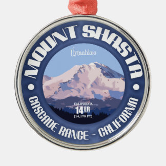 Mount Shasta Metal Ornament