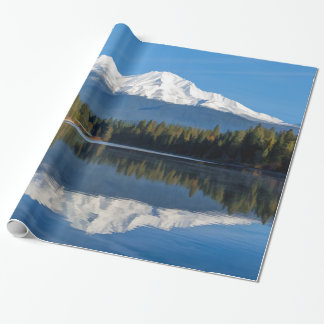 MOUNT SHASTA REFLECTED WRAPPING PAPER