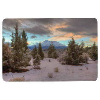 MOUNT SHASTA SNOW SCENE FLOOR MAT