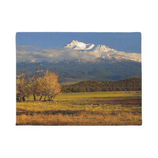 MOUNT SHASTA WITH FALL COLORS DOORMAT