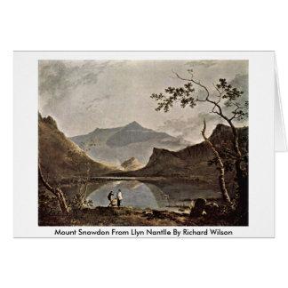 Mount Snowdon From Llyn Nantlle By Richard Wilson Card