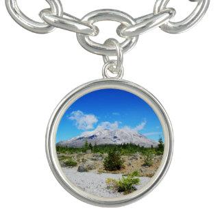 Mount St. Helen, volcano,  blue sky