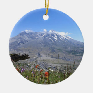 Mount St. Helens Ceramic Ornament