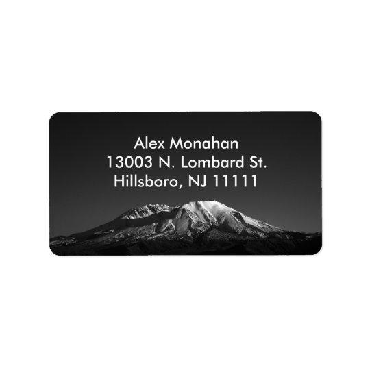 Mount St. Helens in Monochrome Custom Address Labe Address Label