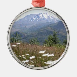 Mount St. Helens Metal Ornament