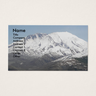 Mount St Helens Volcano Photo Business Card